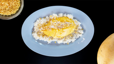 Sticky rice z mango