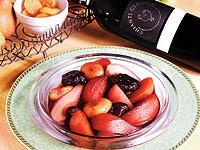 Owoce gotowane w winie chianti