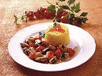 Potrawka z muli z szafranowym ryżem