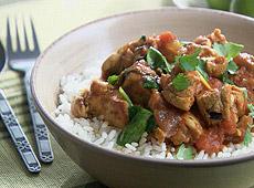 Curry z kurczaka ze szpinakiem