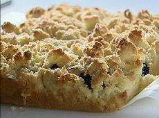 Ciasto kokosowo - jeżynowe