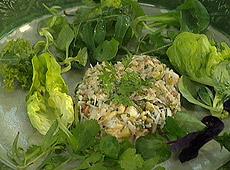 Sałatka z krabów w sosie winegret