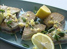 Szaszłyki z tuńczyka