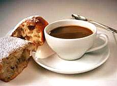 Budyń kawowy z pączkami