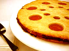 Morelowa tarta linzer