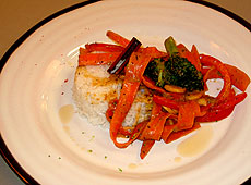 Warzywa w sosie orzechowym