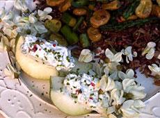 Bób i szparagi na ryżu