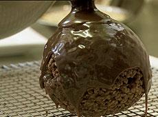 Jądra z czekolady i orzechów laskowych