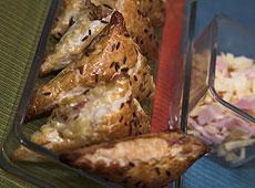 Rożki z serem i szynką