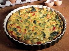 Zapiekany omlet z brokułami