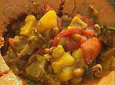 Dynia z grilla z warzywnym curry