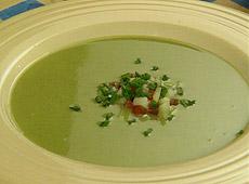 Wiosenna zupa szczawiowo – ogórkowa
