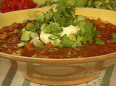 Gęsta zupa fasolowa na sposób latynoamerykański