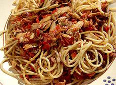 Spaghetti z sosem alla cerepiera