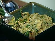 Makaron z tajskim zielonym curry