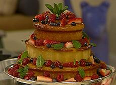 (odc.01)tort migdałowy z owocami