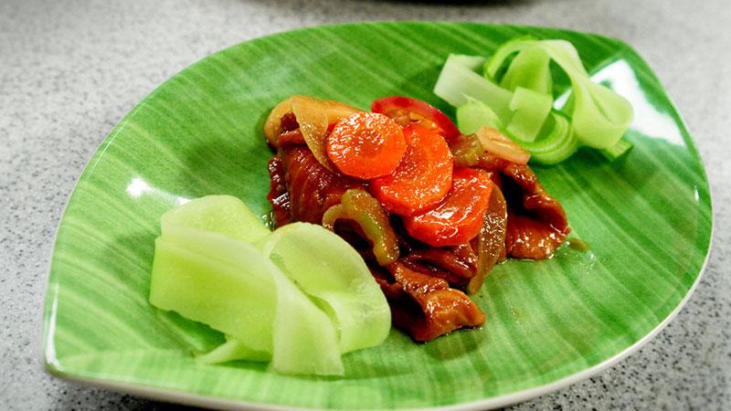 Łosoś marynowany w balsamico