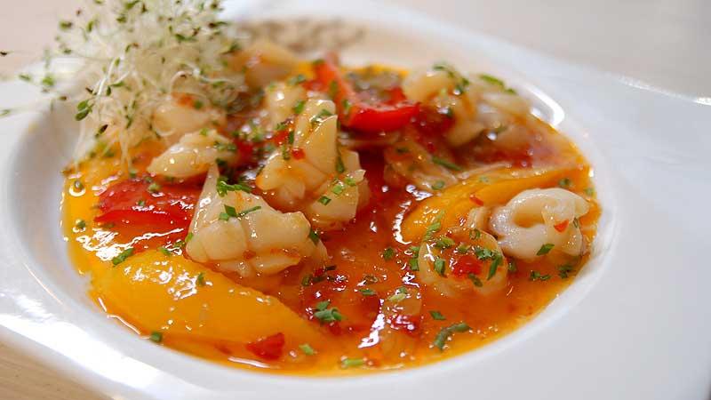Kalmar z papryką i słodkim chilli