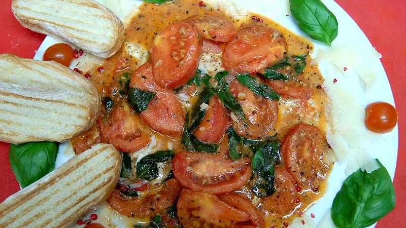 Pomidory smażone z mozzarellą