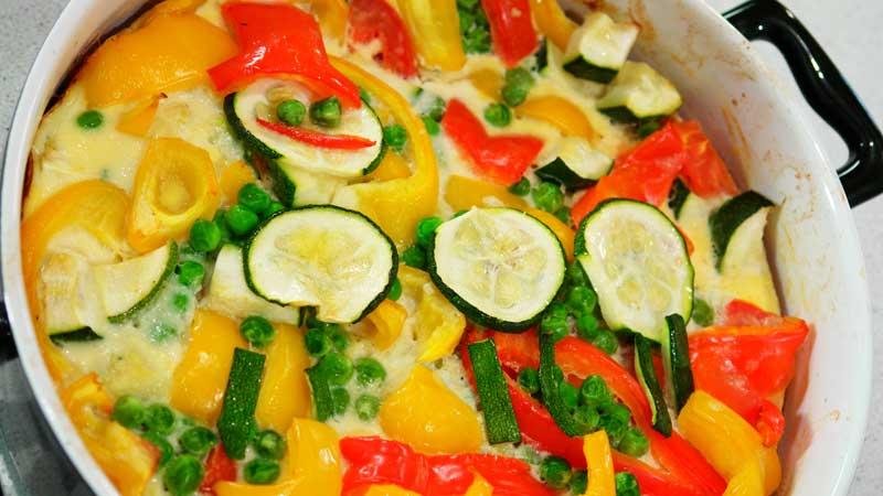 Zapiekanka z chrupiącymi warzywami