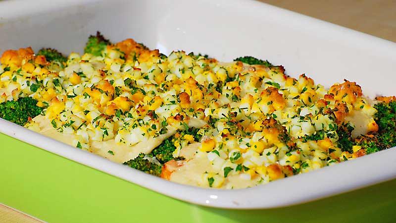Filet z łososia w chrzanowym sosie