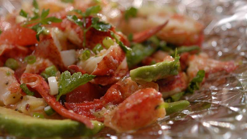 Sałatka z homara z grejpfrutem
