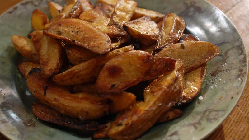 Ziemniaki w kaczym smalcu