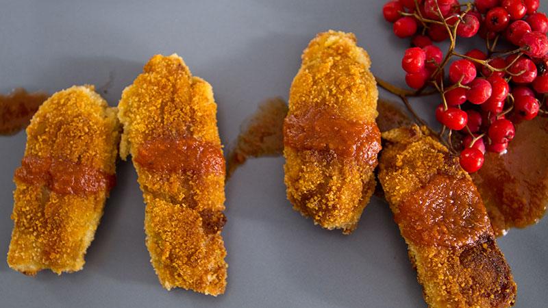 Krokiety z jabłek z sosem waniliowym
