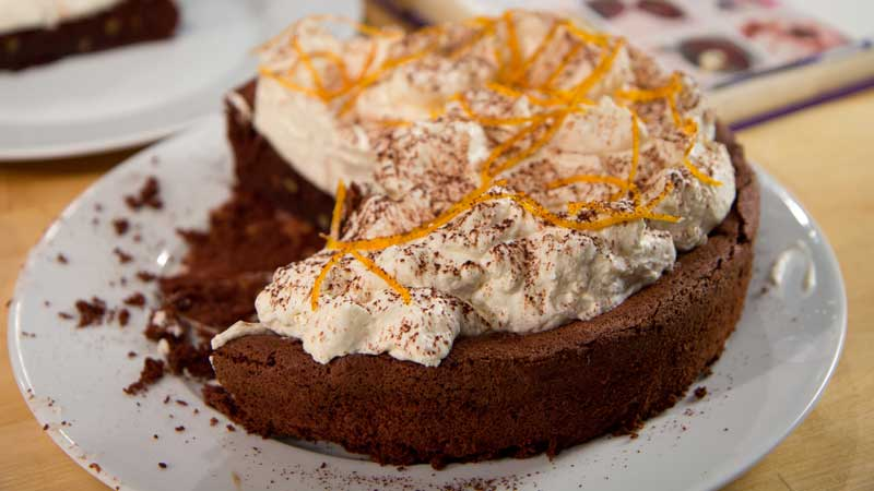 Ciasto czekoladowo-pomarańczowe bez mąki