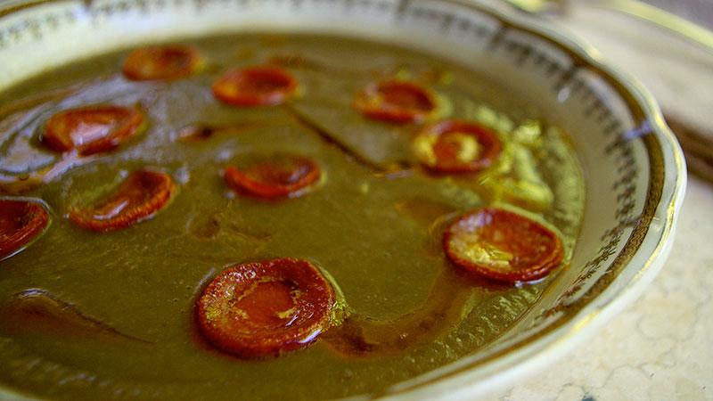 Zupa z soczewicy z chorizo