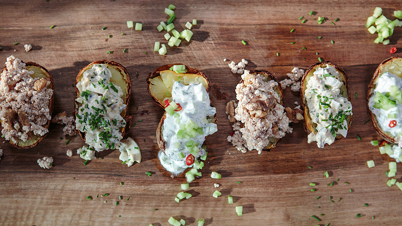 Ziemniaki faszerowane na trzy sposoby