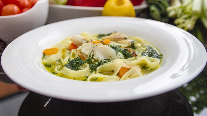 Zupa z wędzonego dorsza