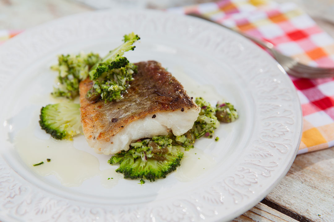 Dorsz z salsą brokułową
