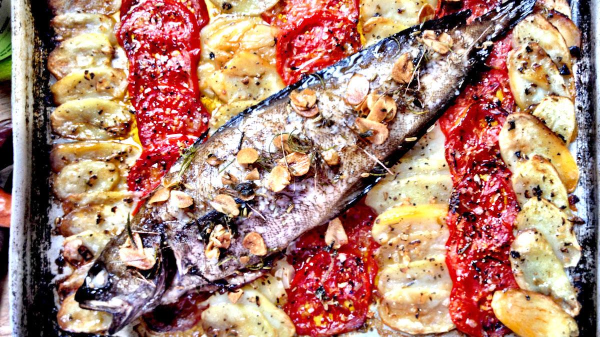 Ryba pieczona z aromatyzowaną oliwą