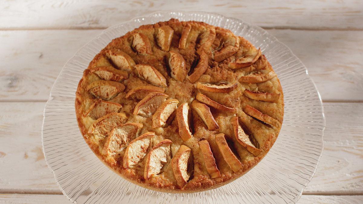 Ciasto migdałowe z jabłkami