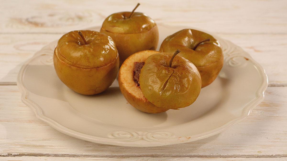 Pieczone jabłka z domową czekoladą