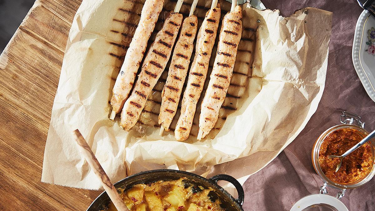 Rybny szisz kebab