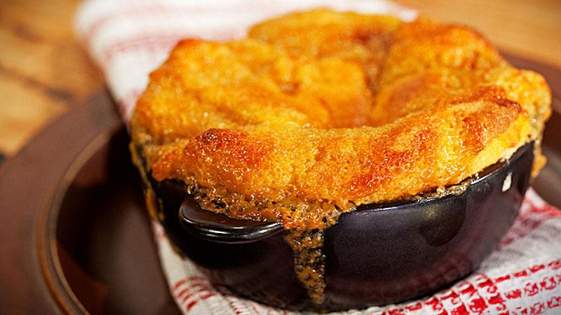 Pudding z syropem klonowym