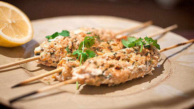Grillowane rybne szaszłyki