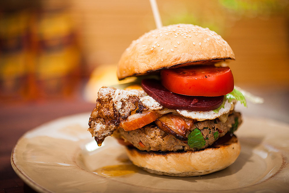 Wielki, australijski burger