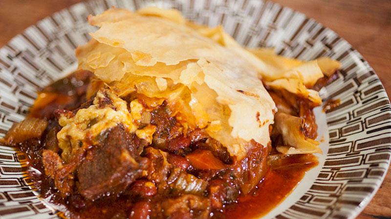 Teksańska zapiekanka z wołowiną i fasolą