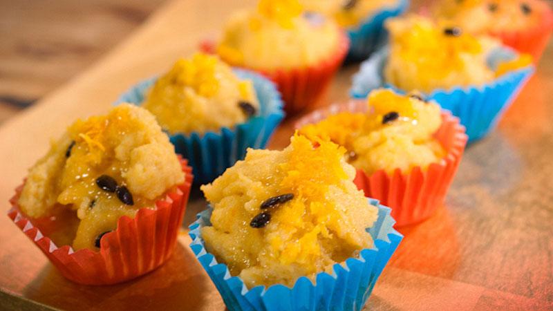 Kuleczki z polenty z marakują
