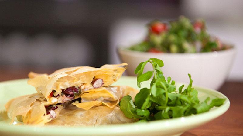 Meksykańskie filo z kurczakiem i serem