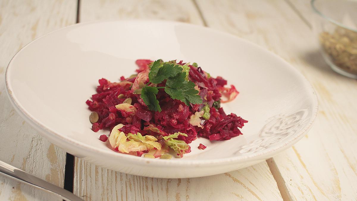 Kasza gryczana z pieczonymi warzywami