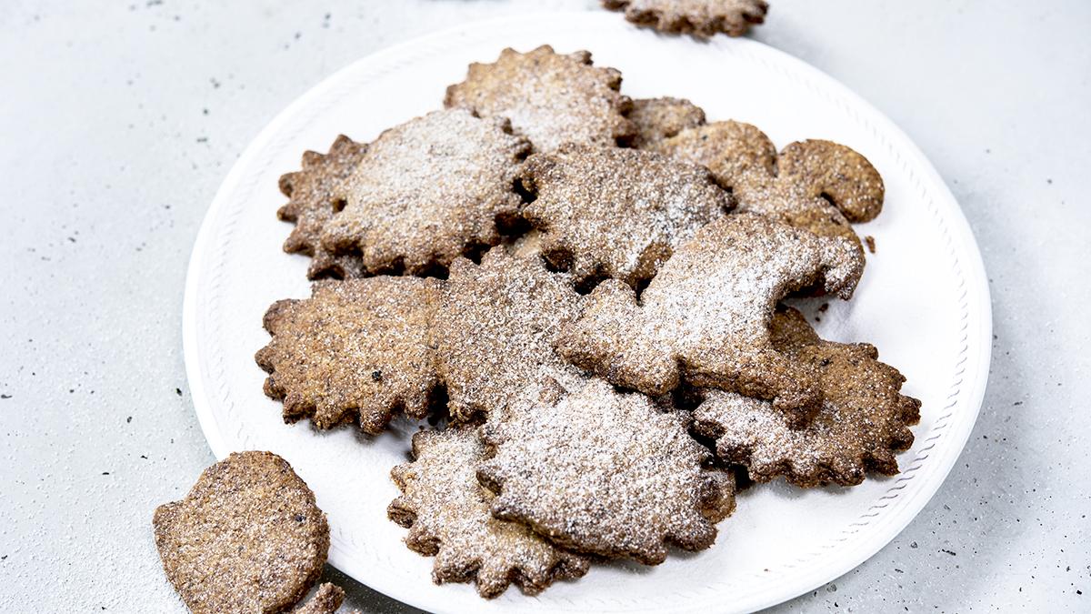 Kruche ciasteczka z berberysem i rodzynkami