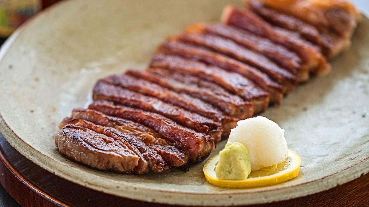 Stek wagyu z wasabi i tosa joyu