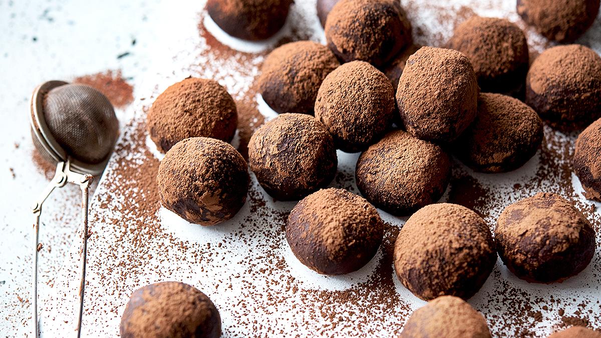 Trufle czekoladowo-marcepanowe