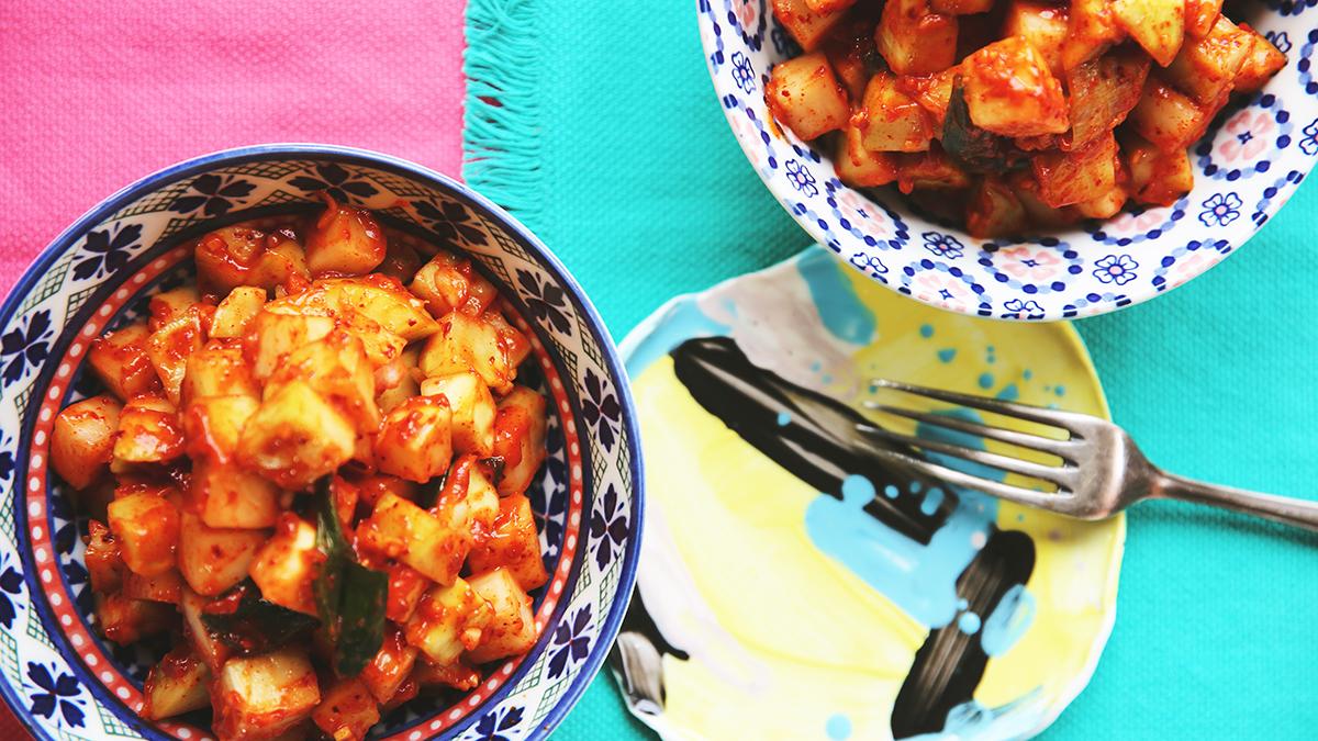 Kimchi z kalarepy