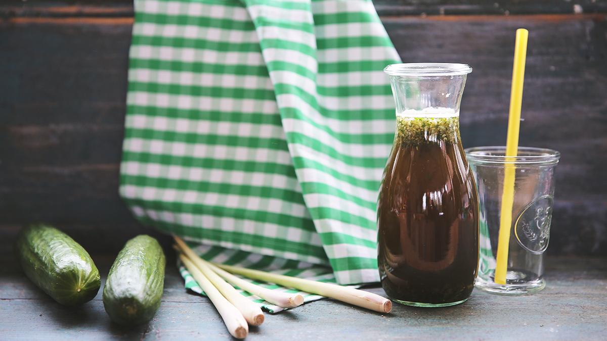 Recyklingowa lemoniada z ogórków