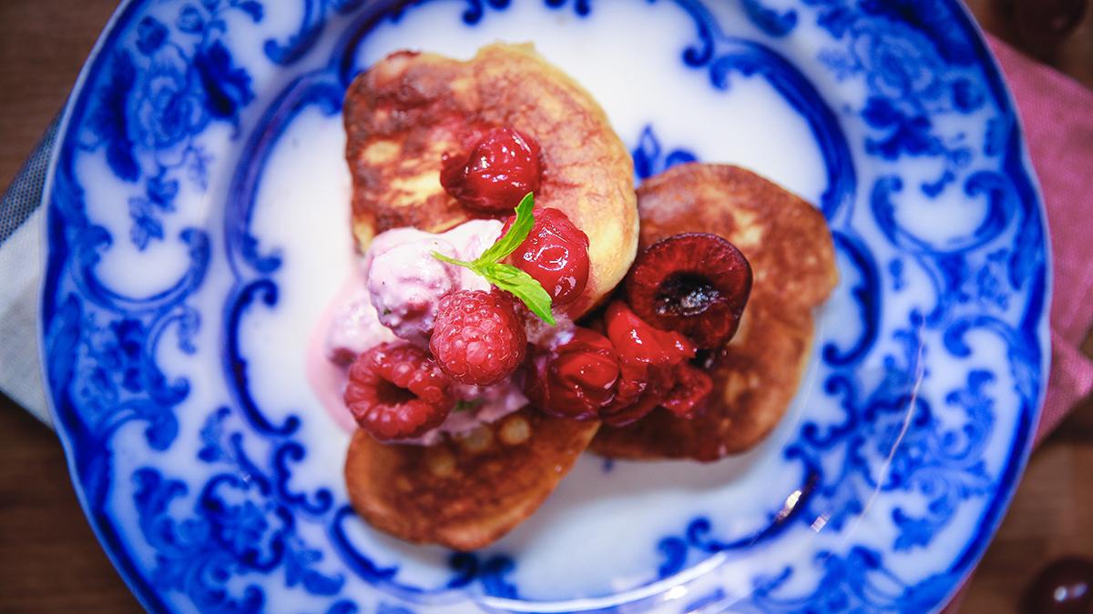 Sodziaki z sosem wiśniowym